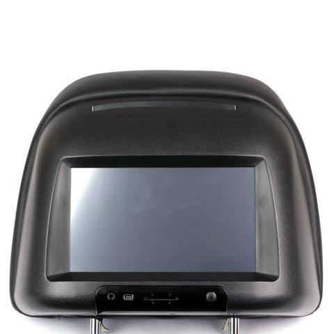 """Подголовник с 7"""" сенсорным монитором и DVD плеером"""