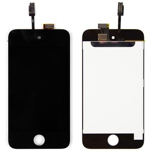 LCD for Apple iPod Touch 4G MP3-Player, (black, with touchscreen)