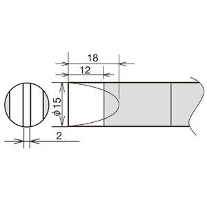 Soldering Iron Tip Goot RX-89HRT-15D