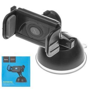 Car Holder Hoco CPH17, (grey, black, suction cup, sliding)