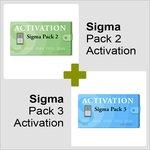 Activaciónes Pack 2 y Pack 3 para Sigma