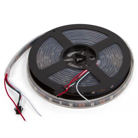 Світлодіодна стрічка RGB SMD5050, WS2812B (з управлінням, IP67, 5 В, 30 діодів/м, 5 м)