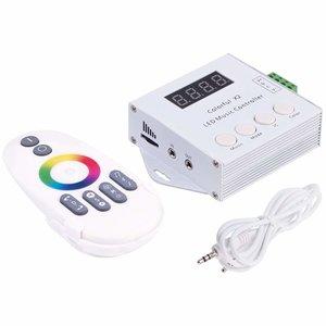 Светомузыкальный контроллер с радиопультом Colorful X2 (WS2811, WS2812, WS2813, 5-24 В)