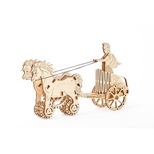 Mechanical 3D Puzzle Wooden.City Roman Chariot
